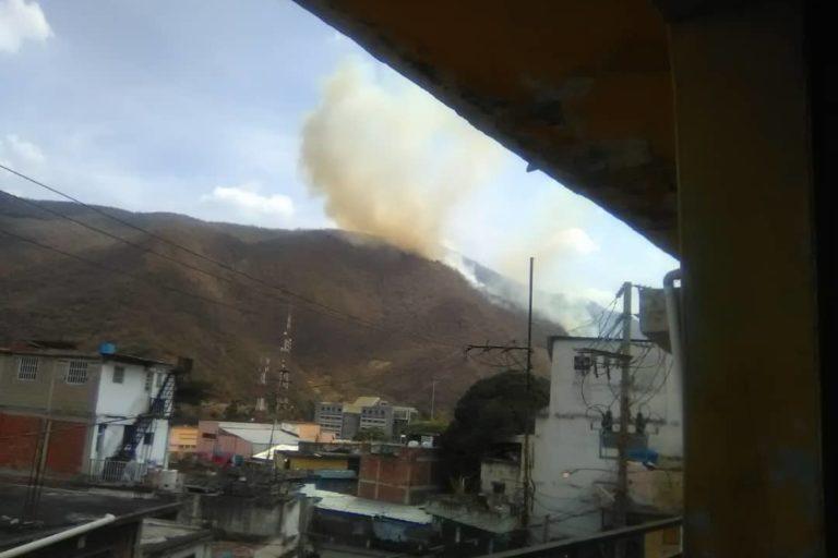 Incendios en Venezuela. Incendios cerca del barrio Cuaricao en Caracas. Foto: Inparques.