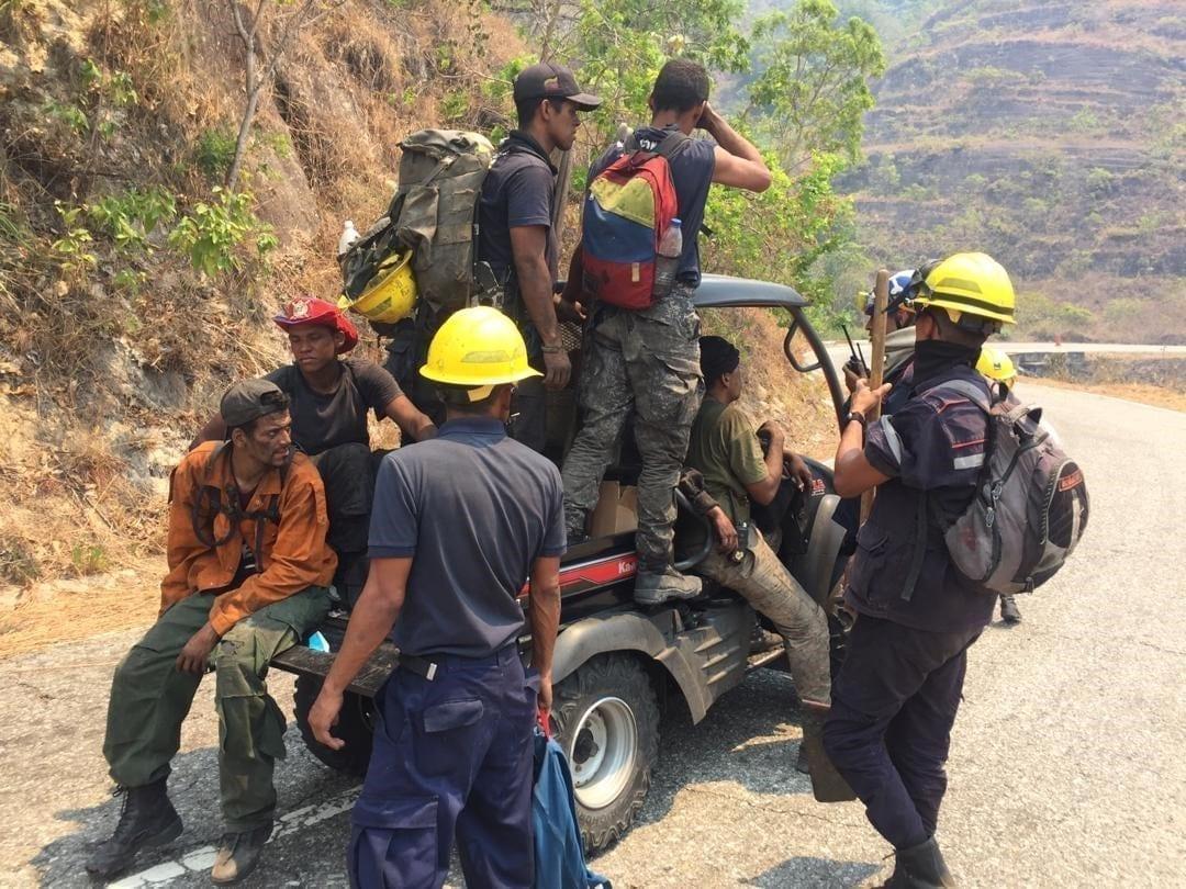 Incendios en Venezuela. En vehículos como este se movilizan los bomberos en Venezuela. Foto: Inparques.