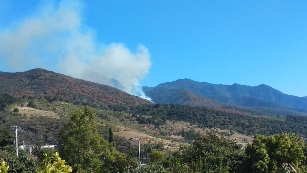 Incendios en San Agustín Etla, Oaxaca