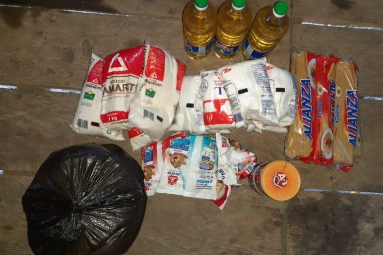 COVID 19 La municipalidad de Tompeteros entregó de alimentos en las comunidades nativas sin los protocolos de protección. Foto: Comunidad de Pucacuro.