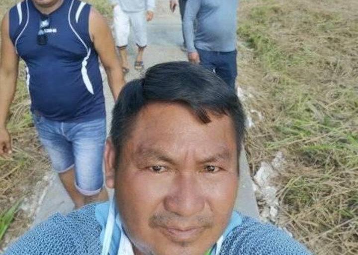 COVID19 El alcalde de Trompeteros, Lorenzo Chimboras, en la comunidad de Pucacuro. Foto: Municipalidad de Trompeteros.