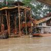 Dragas de minería en el río Kaká en el Parque Nacional Madidi. Foto: Gustavo Jiménez / El Deber