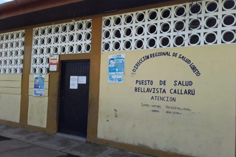 El puesto de salud de Bellavista de Callarú no cuenta con insumos ni implementos para atender a afectados por COVID 19. Foto: Omar Montes.