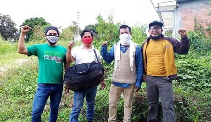 El Comando Matico es un grupo de voluntarios que visita a los personas afectadas por el COVID 19 en Pucallpa. Foto: Comando Matico.