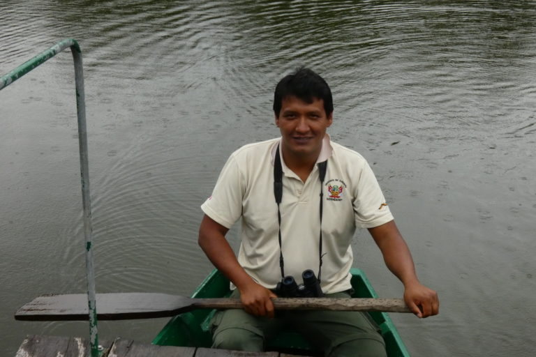 Día Mundial del Ambiente Beto Bravo, guardaparque del Parque Nacional del Manu. Foto: Archivo Beto Bravo.