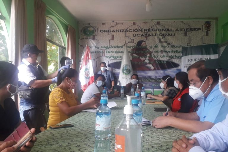 Reunión del Comando COVID en la región Ucayali. Foto: John Salcedo.