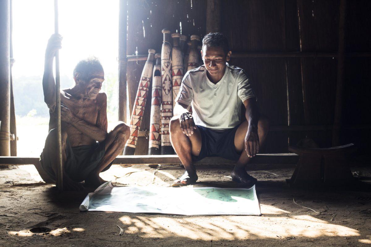 Territorios indígenas Colombia. En los departamentos de Guainía, Vaupés y Amazonas, la mayoría de la población es indígena. Foto: Juan Gabriel Soler, Fundación Gaia Amazonas.