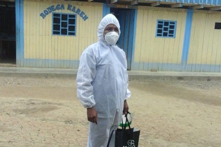 Chávez Wajuyat Shimbucat ha recorrido comunidades awajun y wampis llevando medicamentos. Foto: Archivo personal.