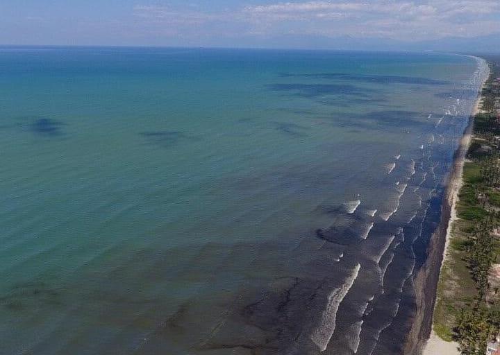 Derrame de petróleo en Venezuela. Golfo Triste, primer lugar impacto por el derrame. Foto: Morrocoy Online.