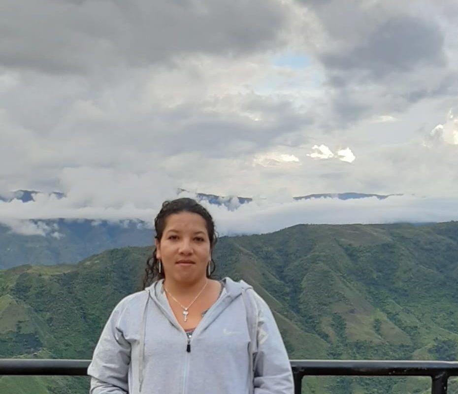 Milena Flórez, presidenta de la Asociación de Víctimas y Afectados por Megaproyectos (ASVAM) y vicepresidenta de Ríos Vivos. Foto: Milena Flórez.