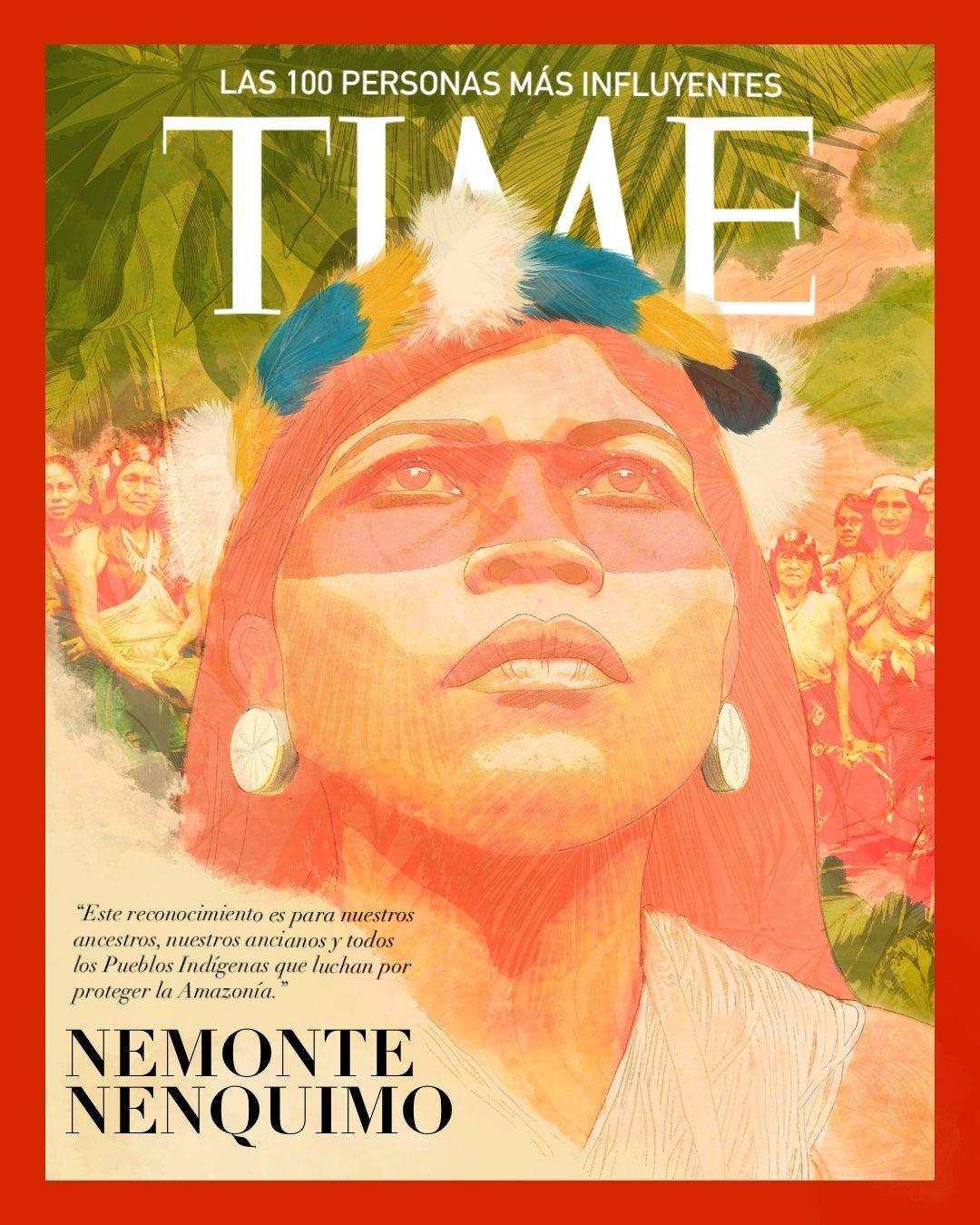 Indígenas Waorani. Imagen tomada de Twitter: @WaoResistencia.