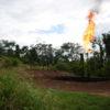 Quema de gas mecheros Ecuador. Según el Colectivo Eliminen los Mecheros, que Encendemos la Vida existen 447 mecheros en la Amazonía. La mayoría están en Orellana y Sucumbíos. Fotografía de José María León.