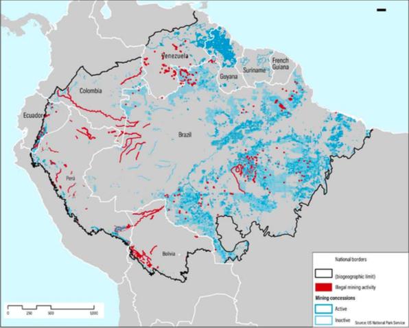 Por lo menos 30 ríos en territorios indígenas están afectados por la minería. Foto: WRI.
