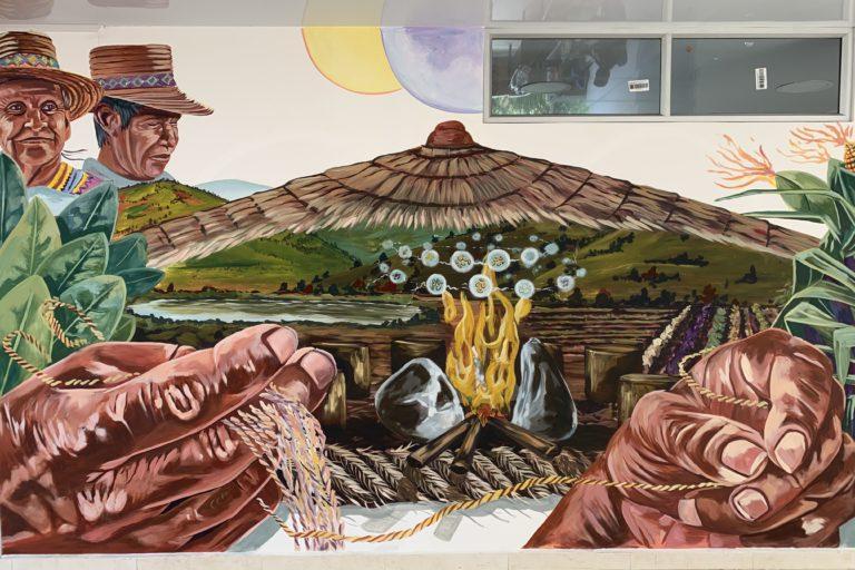 Guardia Indígena del Cauca. Mural indígena. Foto: Front Line Defenders.