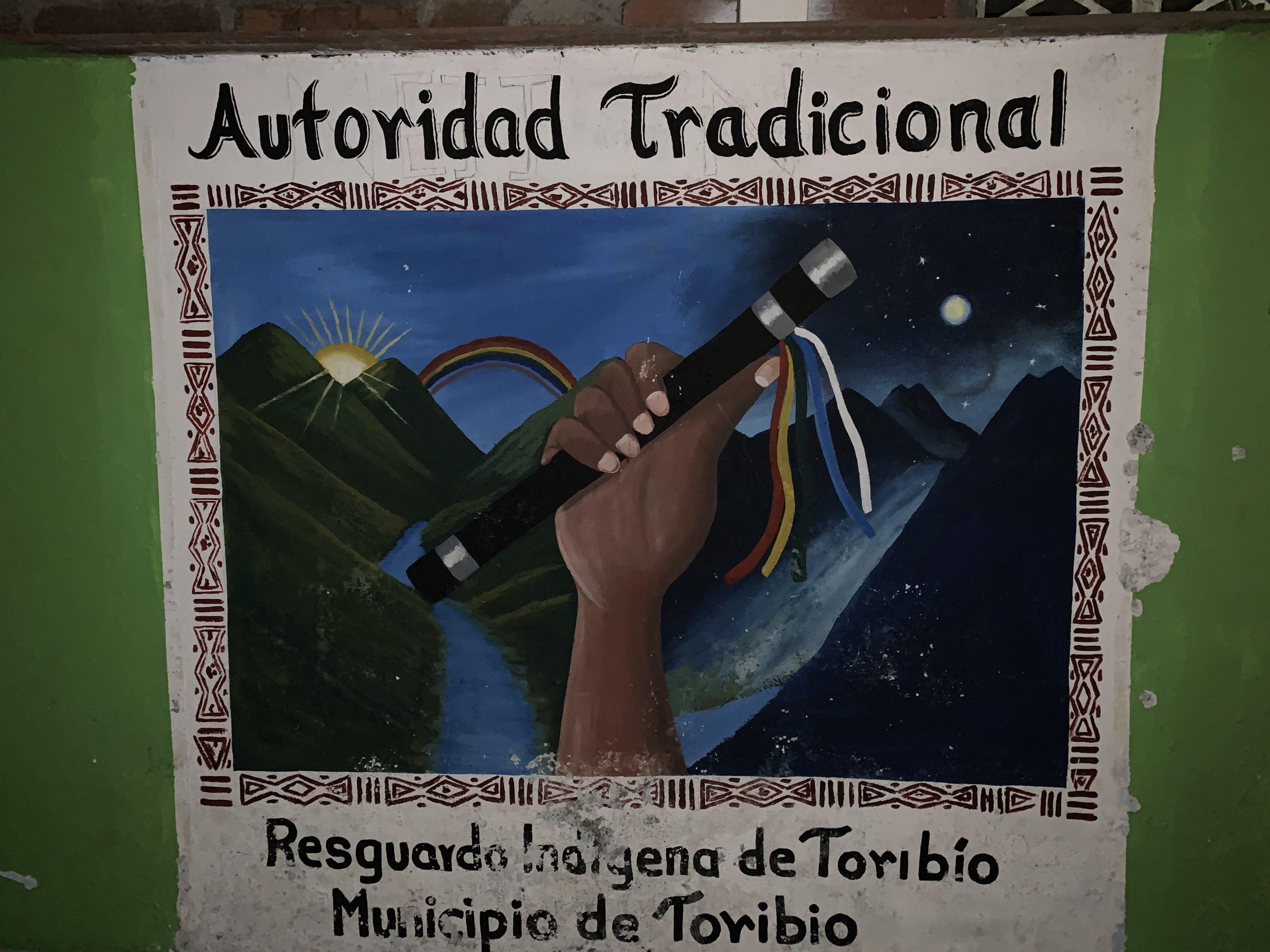 Guardia Indígena del Cauca. Toribío es un municipio cuya población es principalmente indígena. Foto: Front Line Defenders.
