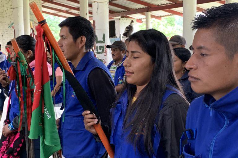 Guardia Indígena del Cauca. La Guardia Indígena del Cauca está conformada principalmente por indígenas Nasa. Foto: Front Line Defenders.