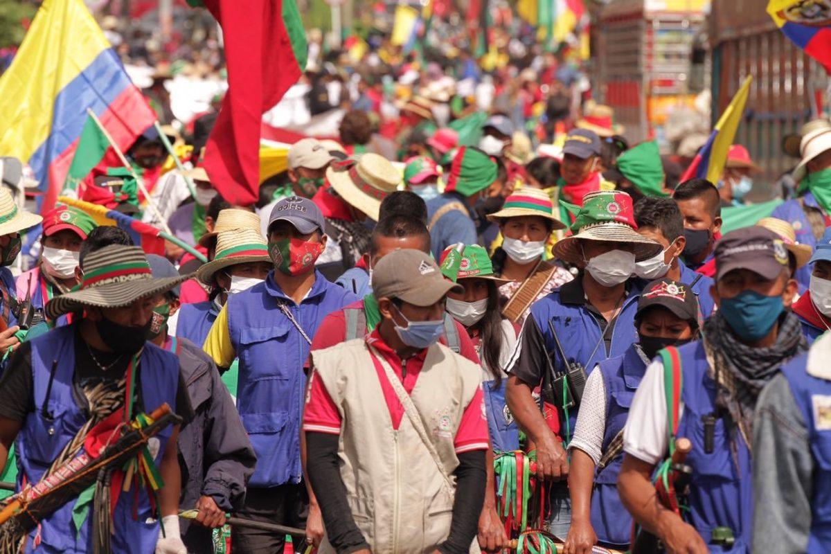 Minga indígena Colombia. La minga indígena volverá al Cauca luego del paro nacional del 21 de octubre 2020. Foto: Claudia López @ClaudiaLopez