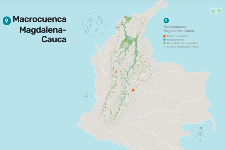 Macrocuenca Magdalena-Cauca. Ilustración: Biodiversidad 2019, Instituto Humboldt.