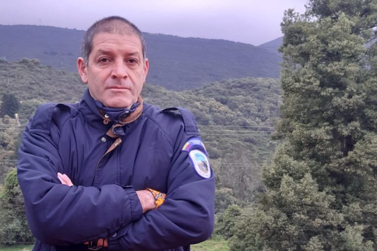Juan Carlos Clavijo, guardaparque del Parque Nacional Natural Chingaza, Colombia. Foto: Juan Carlos Clavijo.