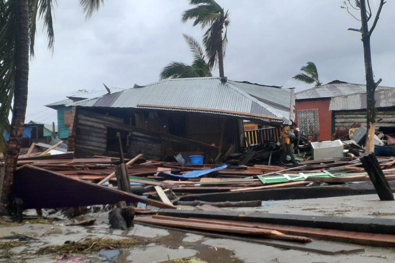 Casa destruida luego del paso de Iota por Nicaragua. Foto: Twitter @wilihgonzalez