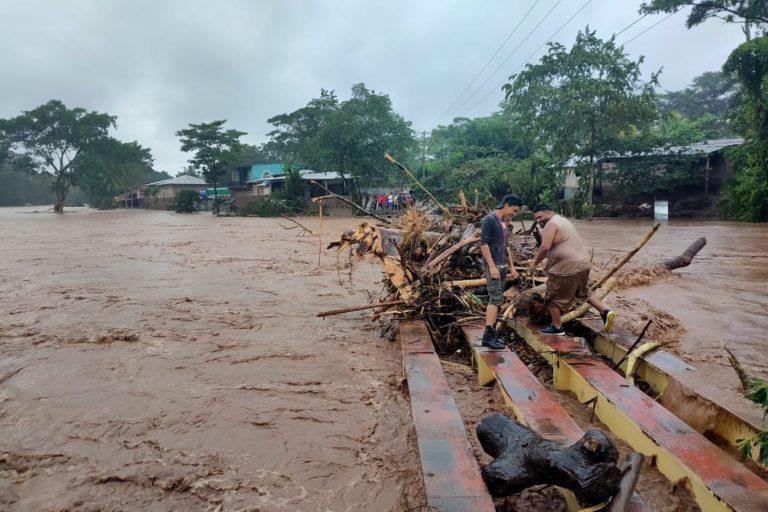 Inundación en Nicaragua luego del paso del huracán Iota. Foto: Centro Humboldt.
