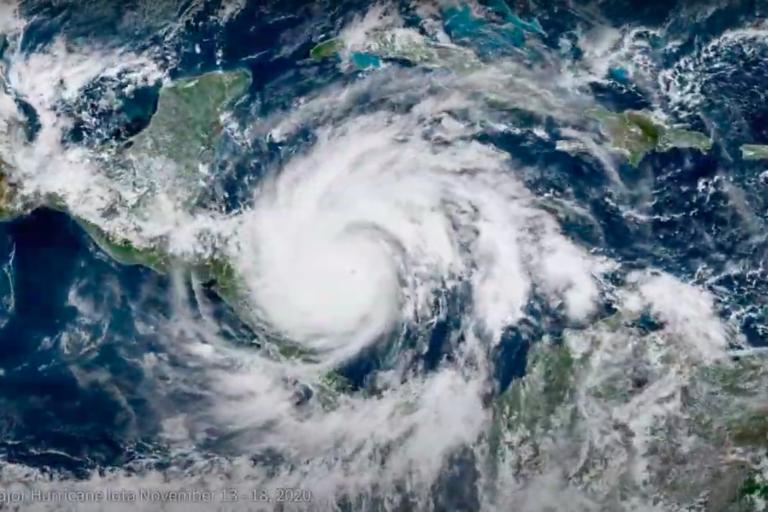 Huracán Iota (13 a 18 noviembre 2020). Imagen de NOAA.
