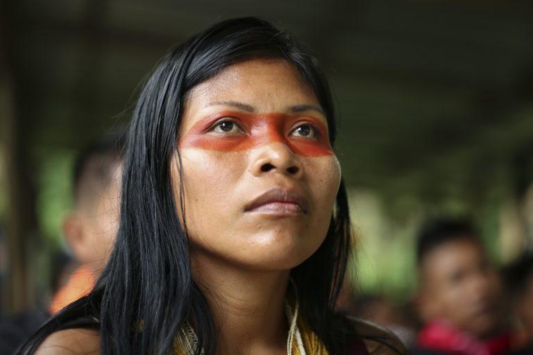 Nemonte Nenquimo es presidenta de la Conconawep desde diciembre de 2018. Foto: Jerónimo Zúñiga, Amazon Frontlines.