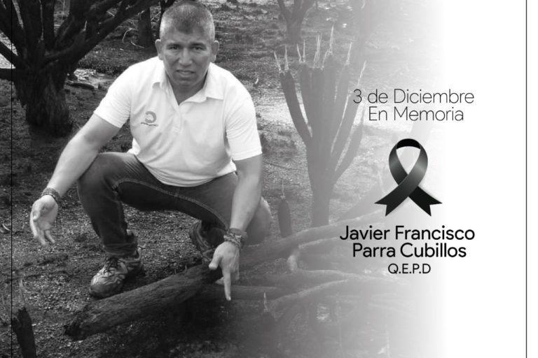 Javier Francisco Parra fue asesinado a tiros en el municipio de La Macarena, Meta. Foto: Cormacarena.