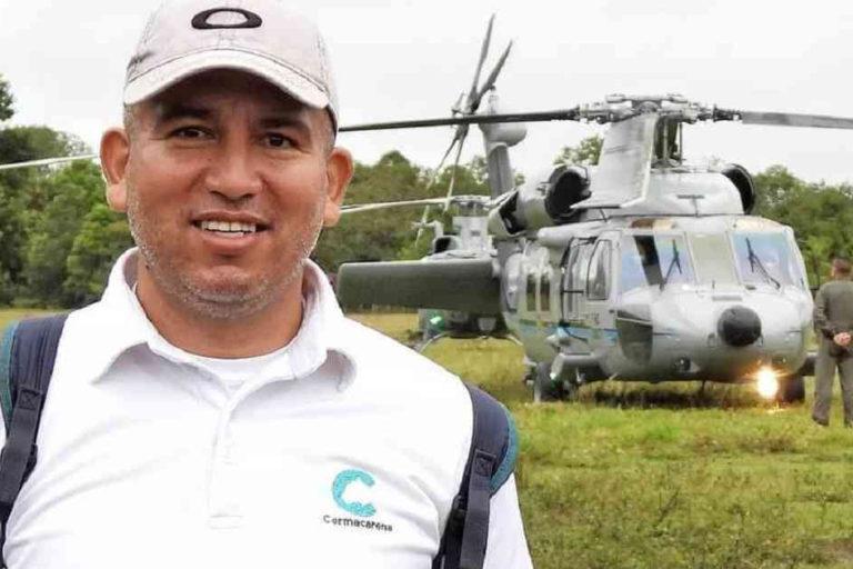 Javier Francisco Parra. Funcionario de Cormacarena asesinado el 3 de diciembre de 2020. Foto: Cormacarena.