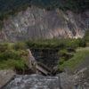 La erosión del río Coca provocó la rotura de dos oleoductos. Esto provocó el derrame de 15 mil galones de petróleo en el río. Foto: Ivan Castaneira/Agencia Tegantai.