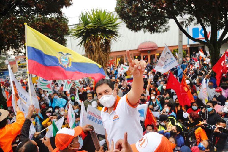 Andrés Arauz es el candidato del expresidente Rafael Correa. Foto: cuenta de Twitter de Andrés Arauz.