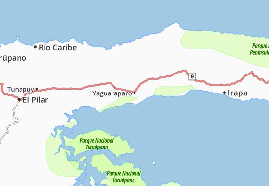 Mapa península de Paria.