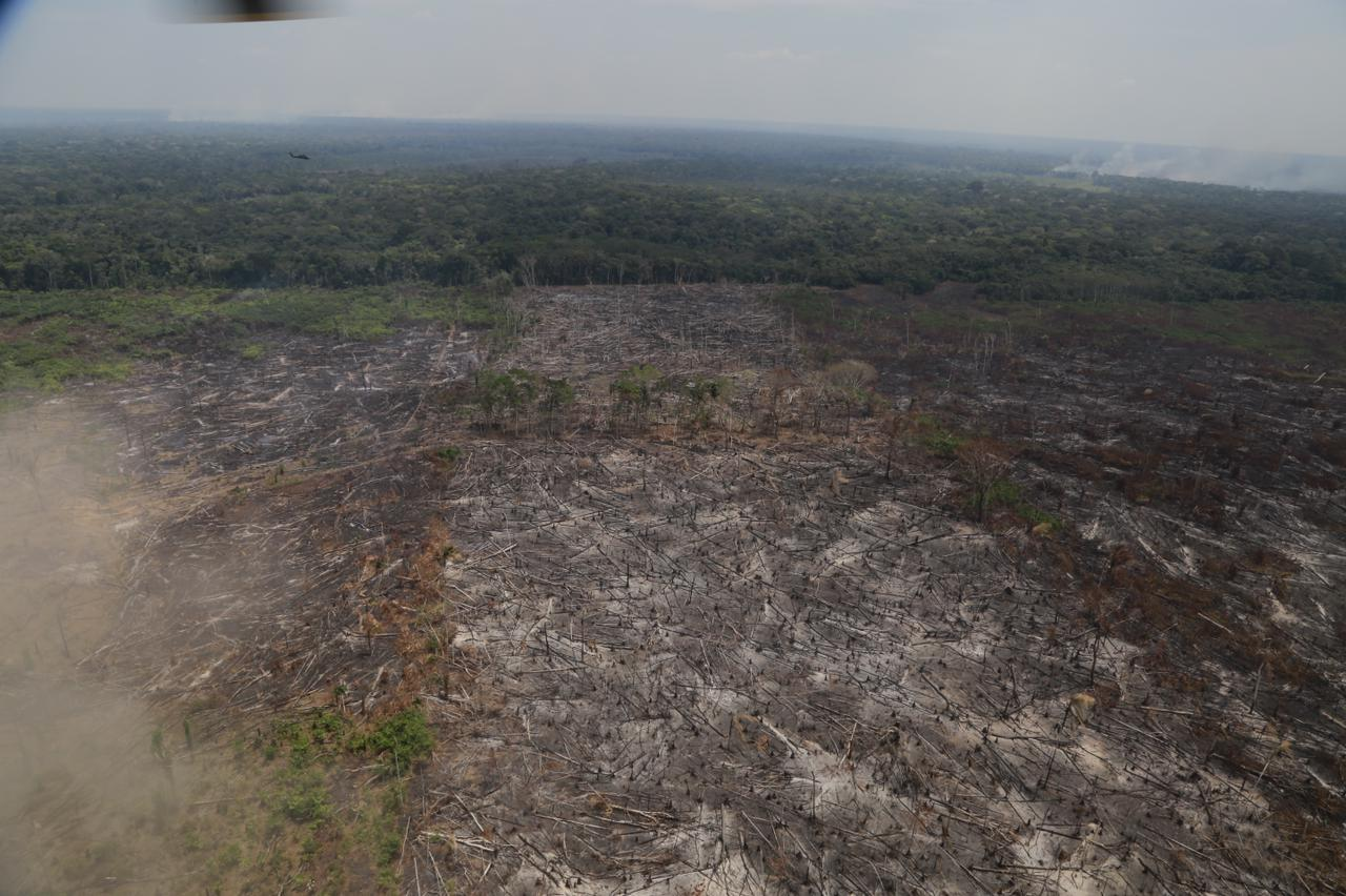 Deforestation in Chiribiquete National Park. Image captured in February 2021 by the Office of the Attorney General of Colombia.