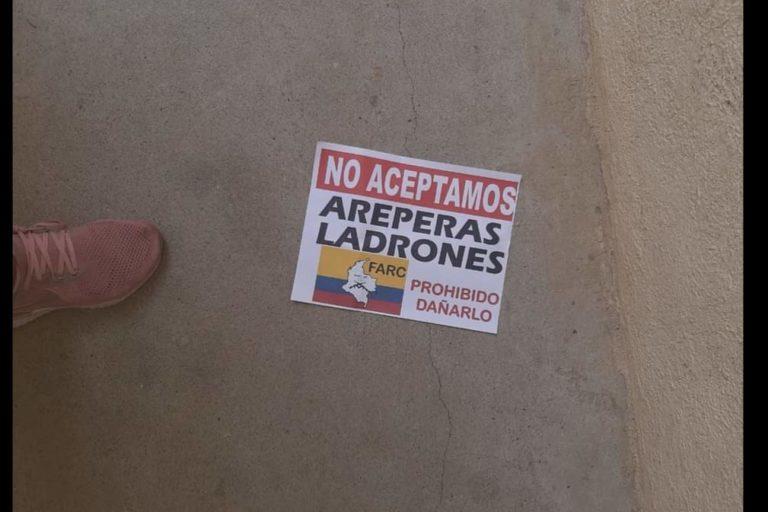 Panfleto que circuló en municipios de Caquetá a inicios de 2021.