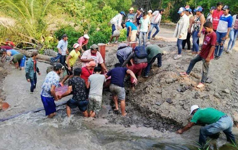 ndígenas decidieron deshacer la represa que encontraron en la propiedad El Cerrito. Foto: TCO Turubó Este.