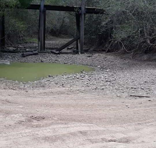Algunos tramos del río Tucabaca se secaron, lo que generó un movimiento ciudadano para saber qué ocurría con el río que desemboca en el Pantanal. Foto: Reserva Municipal de Vida Silvestre Tucabaca.