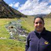 Blanca Ríos-Touma estudia los insectos acuáticos y su relación con la salud de las aguas. Foto: Blanca Ríos-Touma.