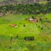 Al fondo zonas recién deforestadas y al frente zonas taladas donde ya se construyeron fincas. Foto: FCDS.
