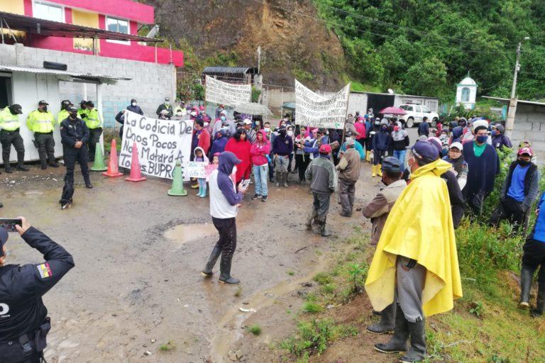 Desde el 19 de abril más de 300 pobladores de Buenos Aires impiden la entrada de la minera Hanrine a su territorio. Foto: Cortesía comunidad de Buenos Aires.