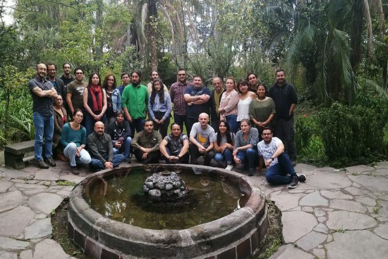 Equipo de coautores de la Lista Roja de Anfibios de Ecuador. Foto: Mauricio Ortega.