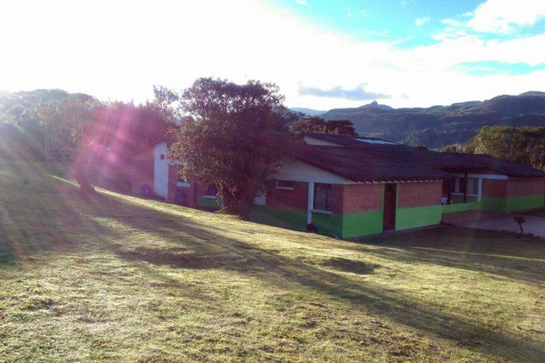 Instalaciones de alojamiento en el Parque Chingaza. Foto: Facebook Corpochingaza.