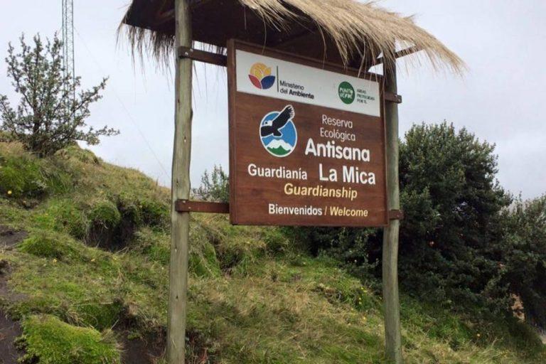 Sector La Mica, uno de los más visitados en Antisana. Foto: Ministerio del Ambiente.
