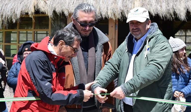 Inauguración de infraestructura en la entonces Reserva Ecológica Antisana cuando cumplió 25 años de creación. Foto: Ministerio del Ambiente.