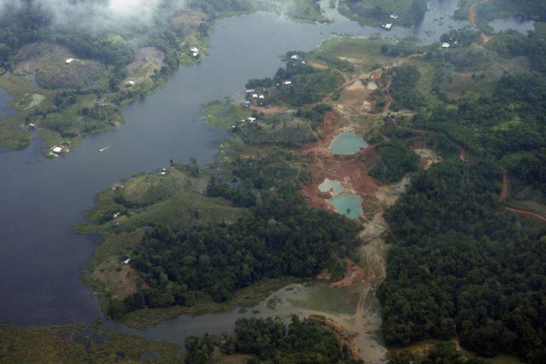 Explotación de oro aluvión en el municipio de Roberto Payán, Nariño. Foto: UNODC_SIMCI.