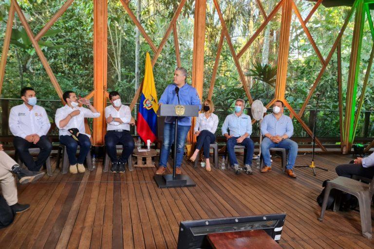 El presidente Iván Duque declaró a la deforestación como delito. Leticia, Amazonas, Colombia. Agosto 4 2021. Foto: Ministerio de Ambiente de Colombia.