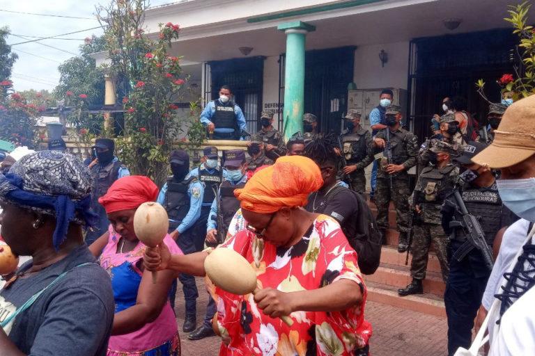 Protesta pueblo garífuna
