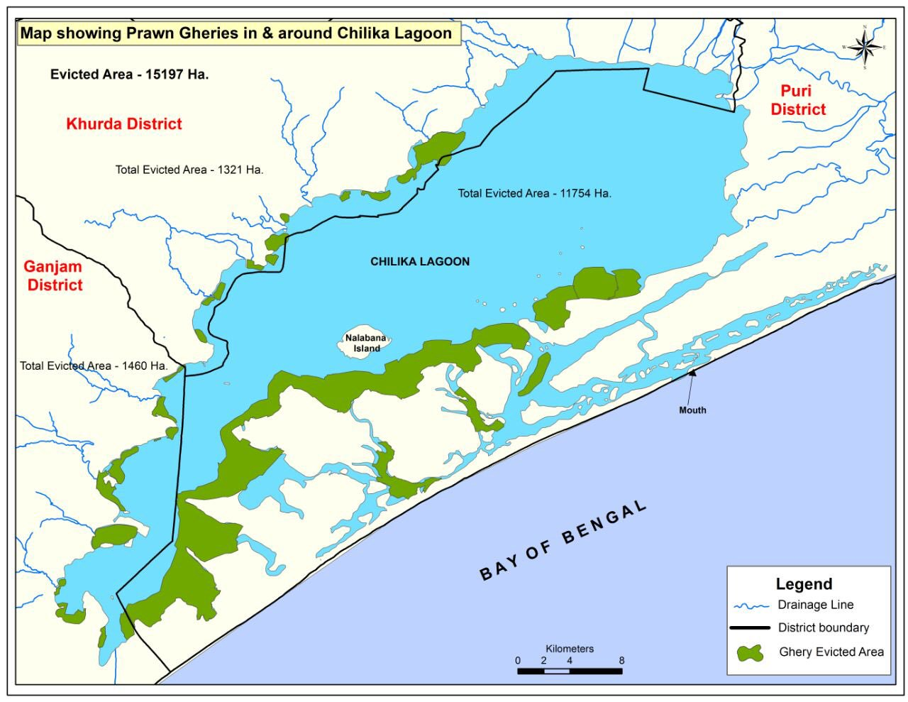 Image result for chilika lake map