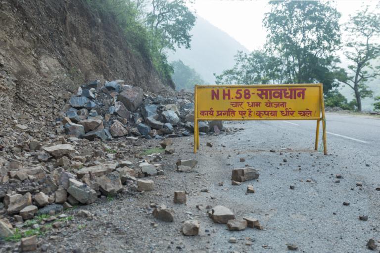 Char Dham highway construction in Uttarakhand. Photo by Kartik Chandramouli/Mongabay.