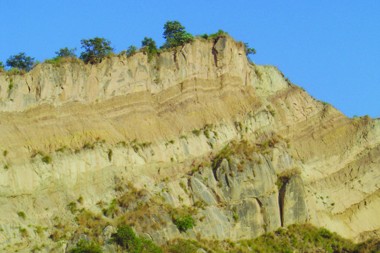 Weak geological formation leads to very severe soil erosion in Uttarakhand. Photo credit: SK Mahapatra