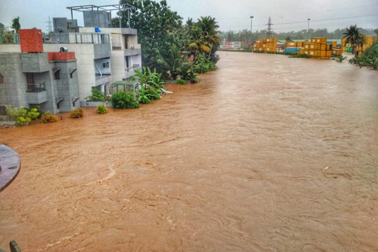 Nearly the whole Kerala was affected due to floods in August 2018. Photo credit: Er.jose1589/Wikimedia Commons.